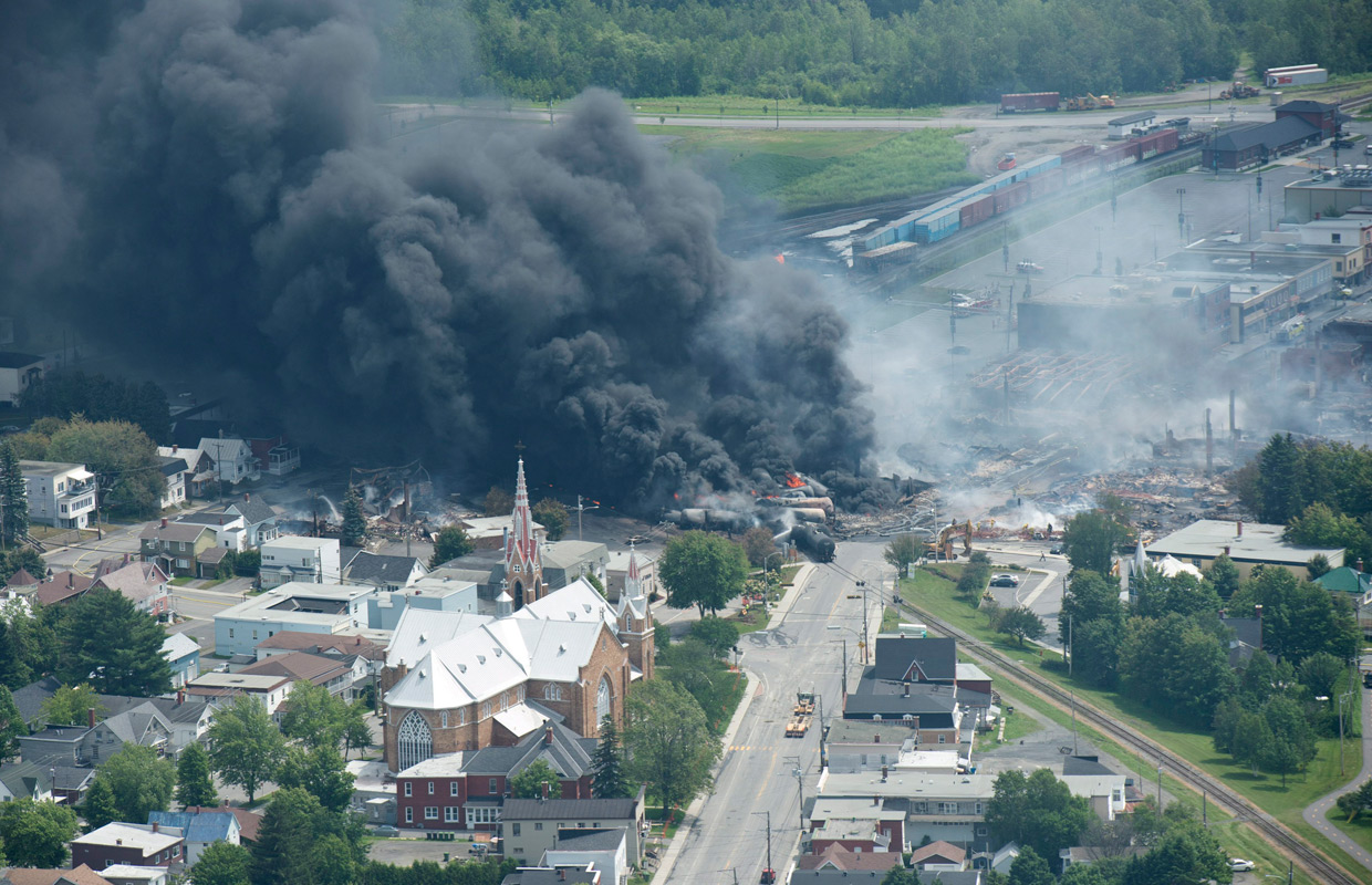 QUEBEC TRAIN DERAILMENT 2